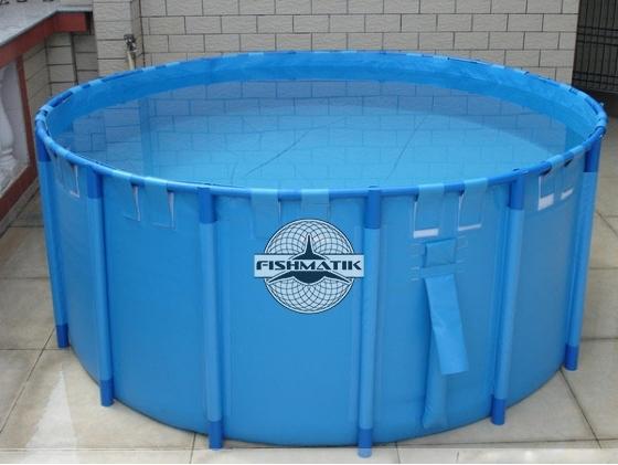 круглый каркасный бассейн для разведения рыбы